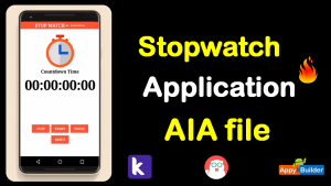 Stopwatch Application Aia file
