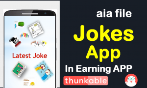Jokes app AIA file kodular ,makeroid and thunkable