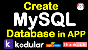 MYSQL database in kodular aia file