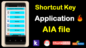 Shortcut key application aia file