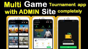 Multi Game Tournament application Pubg,Free Fire,Call of duty,Pubg lite developed in android studio