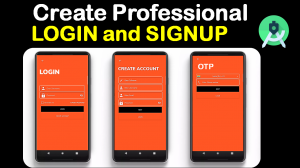 Modern Login and Signup Screen in Android Studio Source file