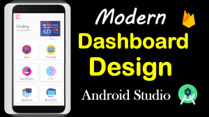 Modern Dashboard design in android studio //Source File